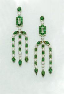 Earrings Emeralds and Diamonds