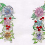 Ambra Floral and diamond Earrings