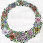 Joyanna Floral and Diamond Necklace
